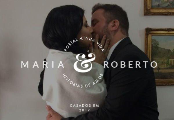 Maria e Roberto têm completa admiração um pelo outro, o que mantém a chama do amor acesa - Foto: Acervo pessoal