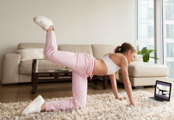 Ejercicios de piernas: cuatro soportes - Foto: Shutterstock