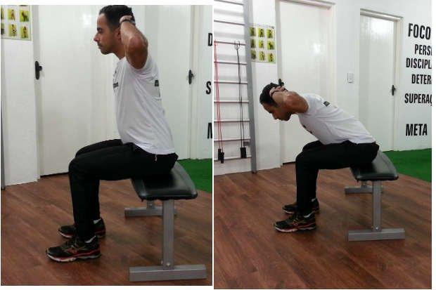 Flexión lumbar sentado