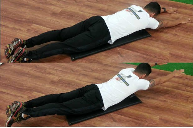 Flexión lumbar acostada