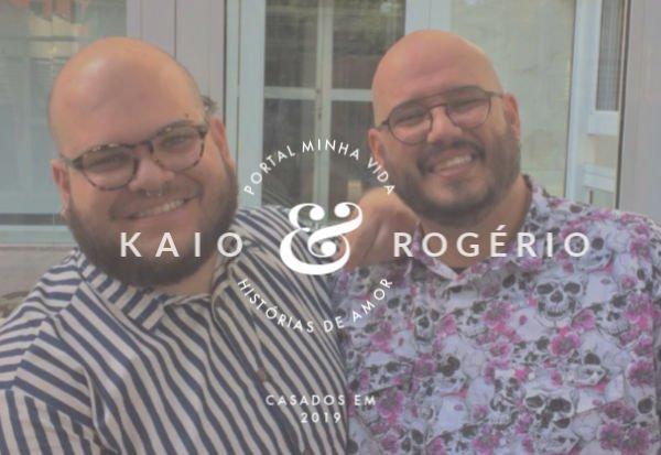 Kaio y Rogério comenzaron a salir por internet y hoy están casados - Foto: Colección Personal